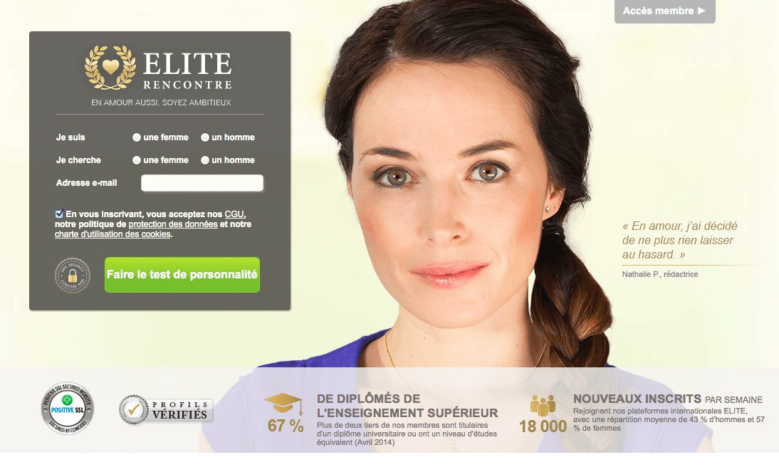 Tarif site de rencontre elite