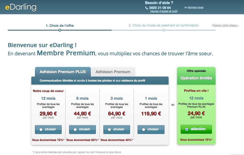 Les prix eDarling