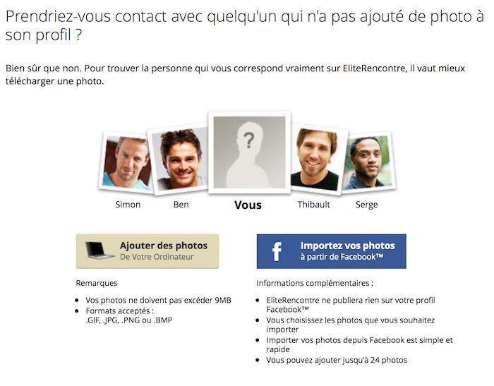 Site de rencontre sans photo de profil