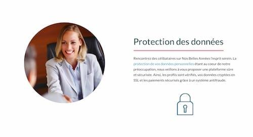 Le site met un accent important sur l'anonymat et la protection des données.