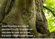 Avant les sites de rencontre, on gravait le nom de son amoureuse sur un tronc.